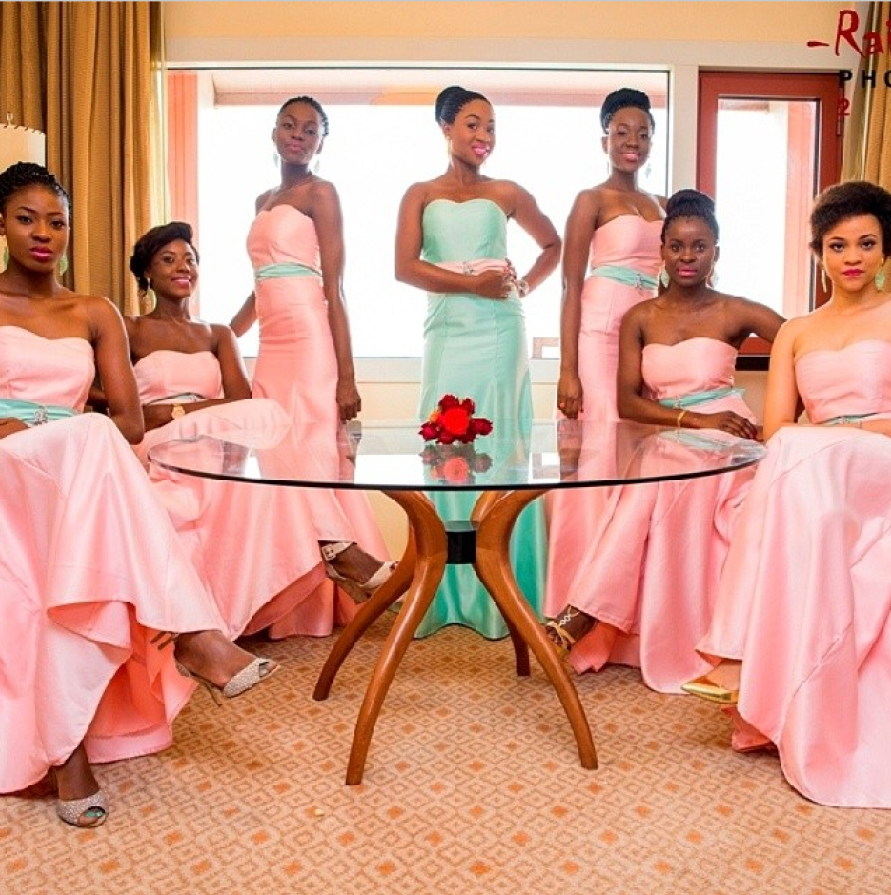 Ese walter and benny ark loveweddingsng8g chief bridesmaid and bridesmaids ombrellifo Choice Image