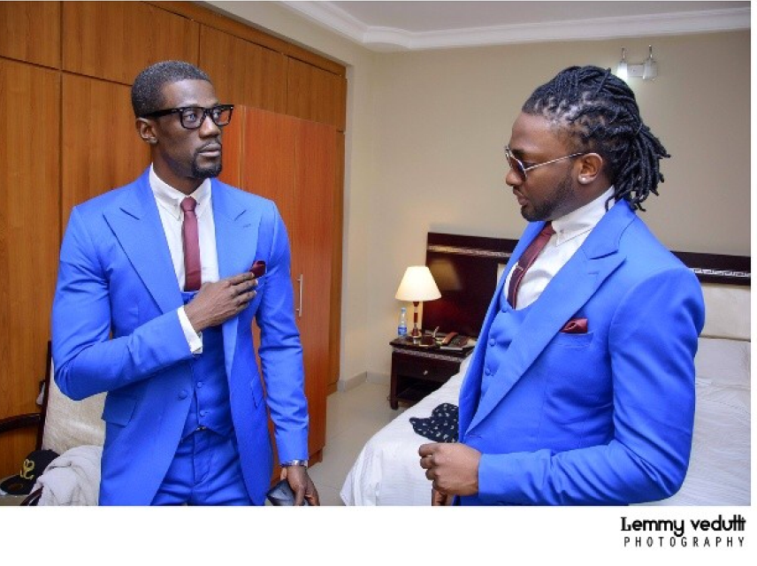 The groom and his bestman - Uti Nwachukwu