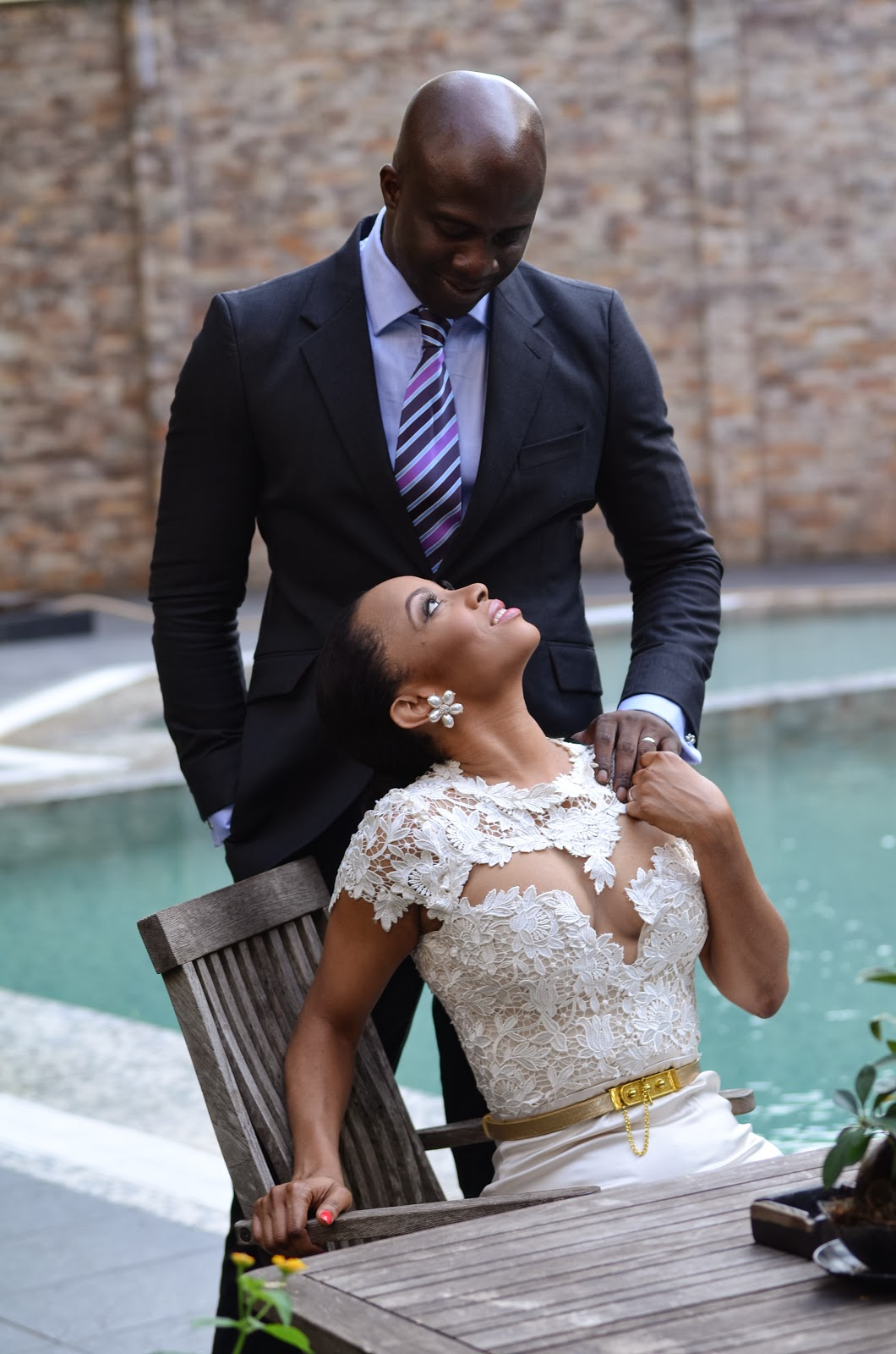 Loveweddingsng Toke Makinwa weds Maje Ayida