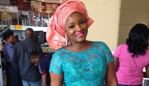 Paul Okoye and Anita Isama Traditional Wedding - Omotola Jalade Ekeinde in Foradora Fabrics