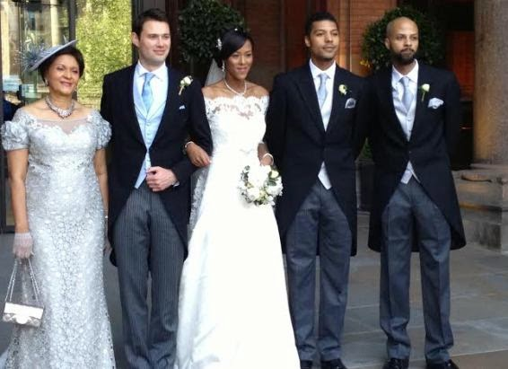 Uvie Ibru and Maxwell Peile's wedding loveweddingsng