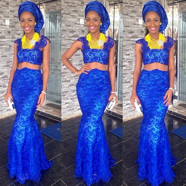 Jude Okoye Ifeoma Umeokeke Aso Ebi Loveweddingsng - Powede Lawrence