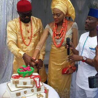 Jude Okoye Ifeoma Umeokeke Aso Ebi Loveweddingsng - cake