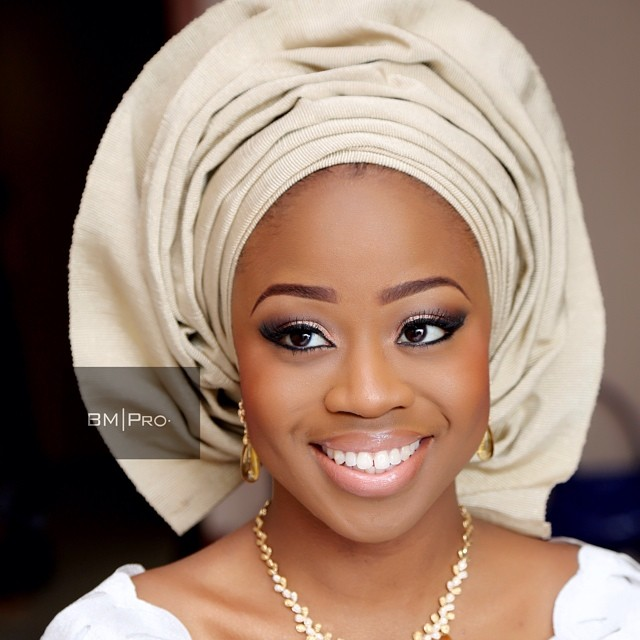 Bride: Kike | Makeup and Gele: Banke Meshida Lawal of BMPro|