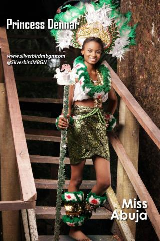 MBGN 2014 Miss Abuja - Princess Dennar Nigerian Traditional Outfit Loveweddingsng