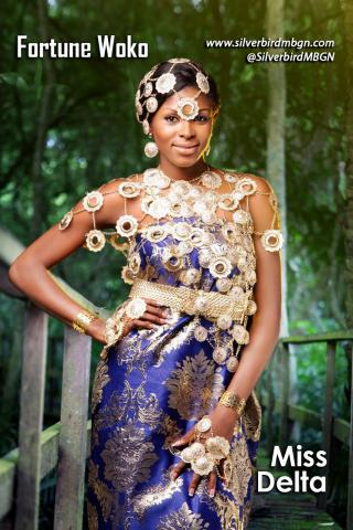 MBGN 2014 Miss Delta - Fortune Woko Nigerian Traditional Outfit Loveweddingsng