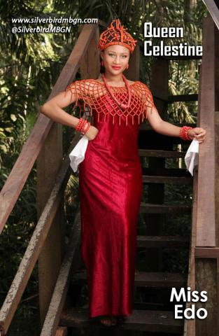 MBGN 2014 Miss Edo Queen Celestine Nigerian Traditional Outfit Loveweddingsng