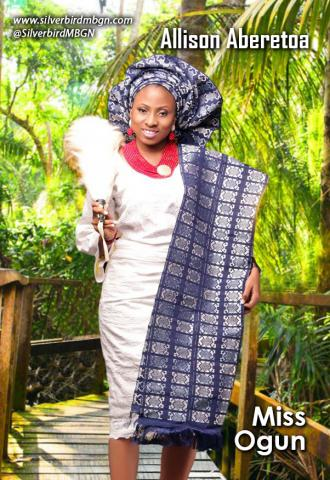 MBGN 2014 Miss Ogun - Allison Aberetoa Nigerian Traditional Outfit Loveweddingsng