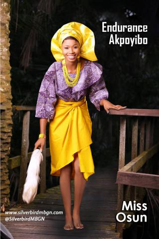 MBGN 2014 Miss Osun - Endurance Akpoyibo Nigerian Traditional Outfit Loveweddingsng