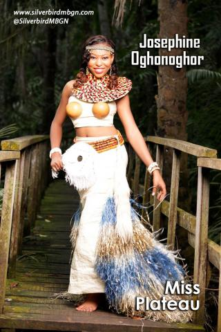 MBGN 2014 Miss Plateau - Josephine Oghonoghor Nigerian Traditional Outfit Loveweddingsng