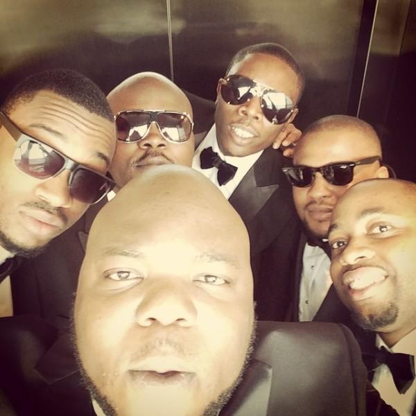 Dr Sid Simi Osomo White Wedding Loveweddingsng - Groomsmen Selfie!