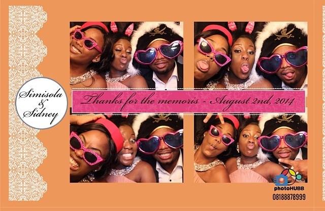 Dr Sid Simi Osomo White Wedding Loveweddingsng - Photobooth