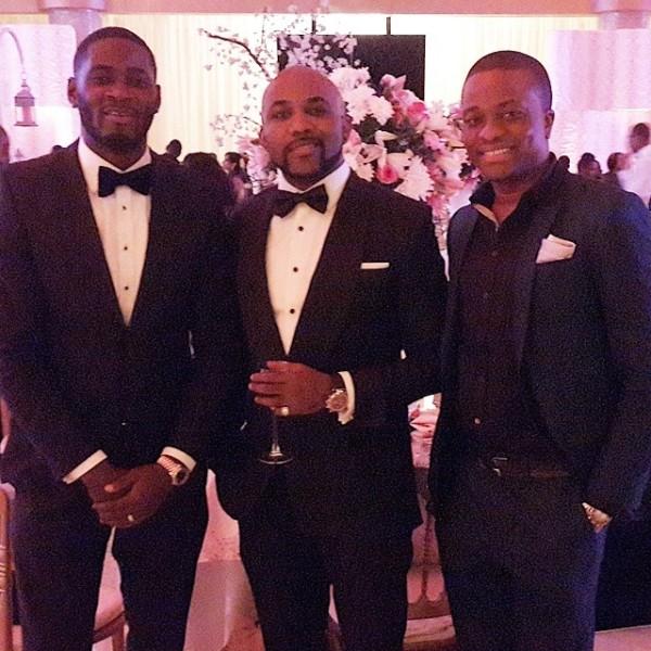 Dr Sid Simi Osomo White Wedding Loveweddingsng - Tee Billz, Banky W, Tunde Demuren