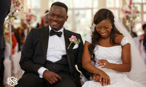 Dr Sid Simi Osomo White Wedding Loveweddingsng new