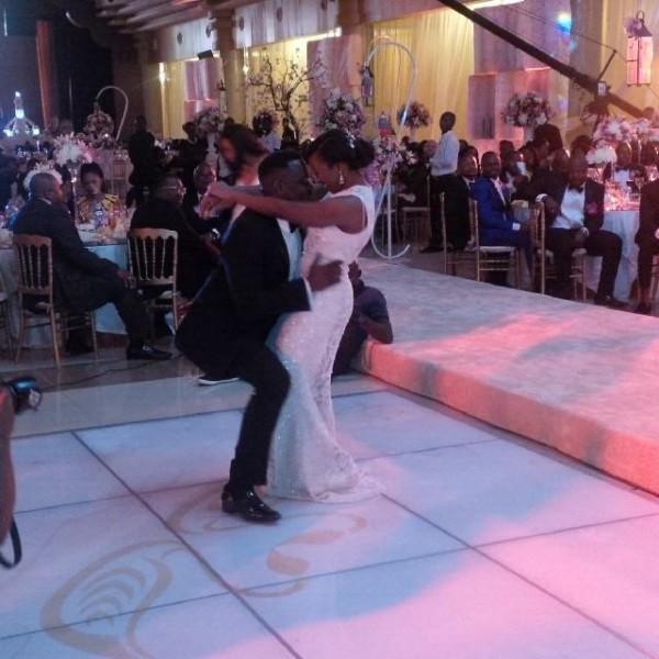 Dr Sid Simi Osomo White Wedding Loveweddingsng8