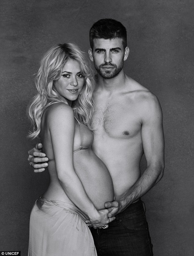 Shakira and Gerard Pique Baby Loveweddingsng3