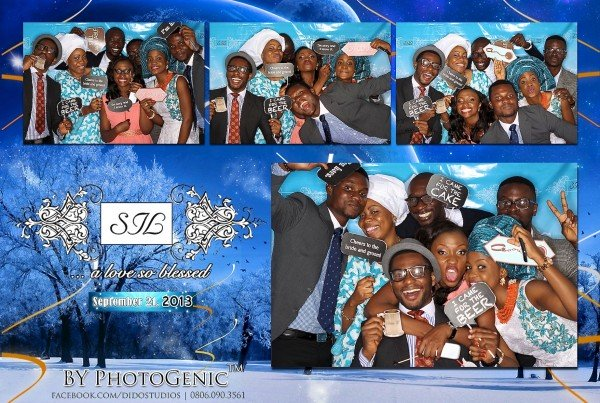The Photogenic Photobooth: Wedding Guests with Props