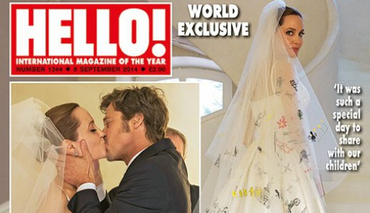 Angelina Jolie Brad Pitt Wedding Hello feat