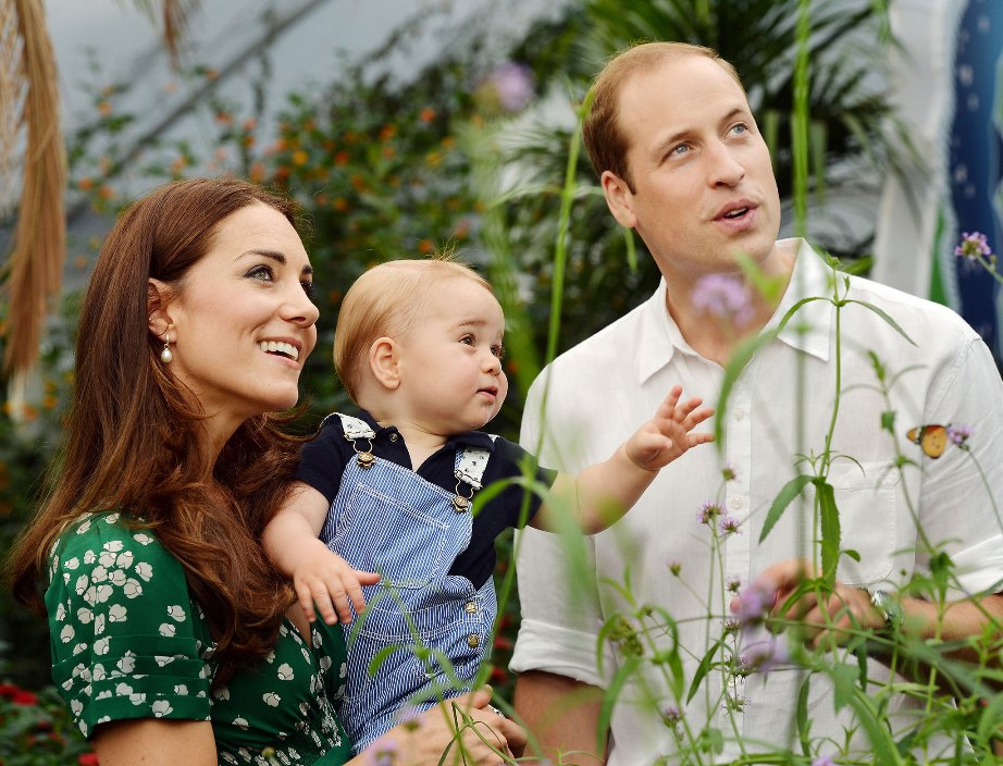 Duke and Duchess of Cambridge Pregnant - Kate and William with George