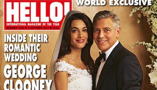 George Clooner and Amal Alamuddin Wedding Venice Hello Magazine Loveweddingsng