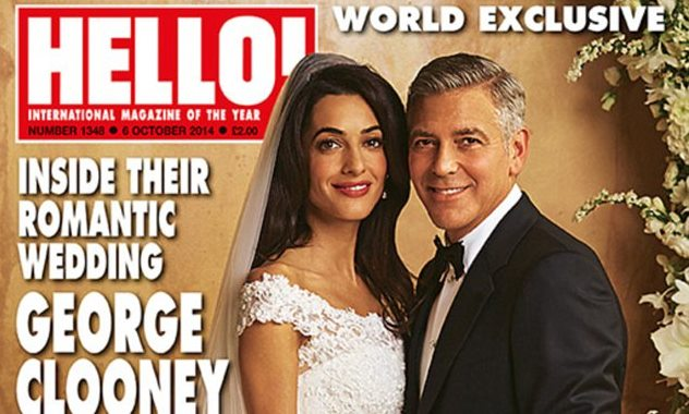 George Clooner and Amal Alamuddin Wedding Venice Hello Magazine Loveweddingsng