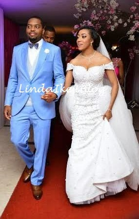 Koko Ita Giwa weds Chimaobi Loveweddingsng - White Wedding1