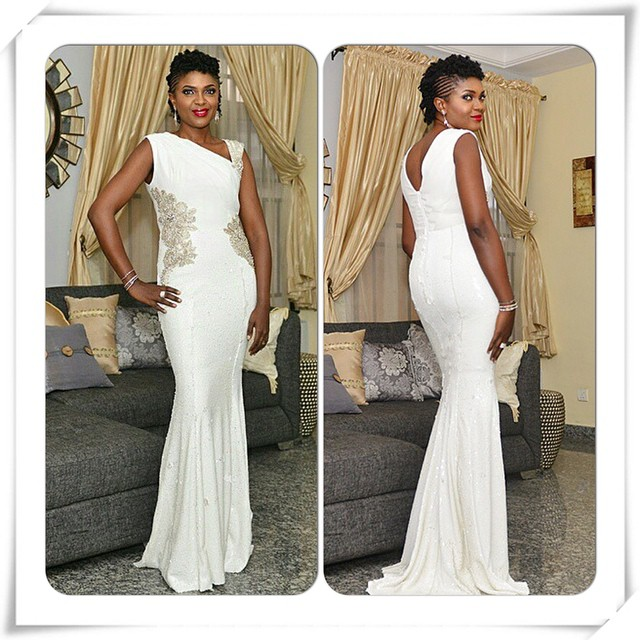 Omoni Oboli's look for the premiere of 'Being Mrs Elliot' Dress: Mai Atafo Inspired (MAI)