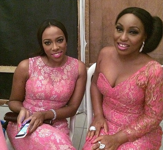 Genevieve Pink Ball 2014 - Fade Ogunro and Rita Dominic