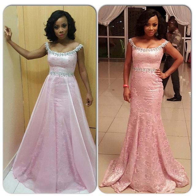Genevieve Pink Ball 2014 - Toke Makinwa2