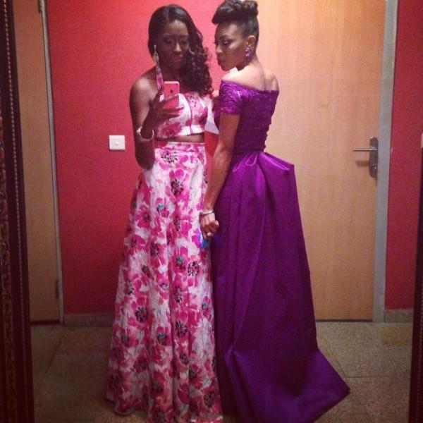 Genevieve Pink Ball 2014 - Vimbai Mutinhiri and Ugonna Omeruo