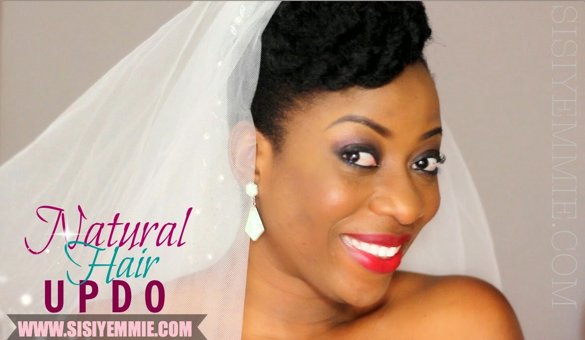 Sisi Yemmie Natural Hair Updo Loveweddingsng