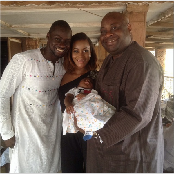 Chris Attoh Damilola Adegbite Baby Brian