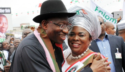PIC. 9. PRESIDENT GOODLUCK JONATHAN AND HIS WIFE, DAME PATIENCE, AFTER  DECLARING HIS INTEREST IN 2015 PRESIDENTIAL RACE IN ABUJA ON TUESDAY  (11/11/14).5672/11/11/14/ICE/AIN/NAN