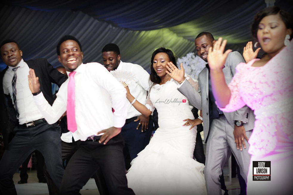 Loveweddingsng Motilayo and Banji White Wedding feat