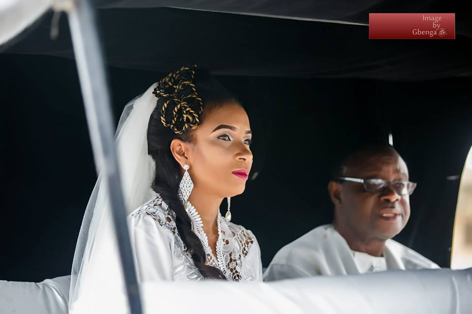 Ibinabo Fiberesimas White Wedding LoveweddingsNG1