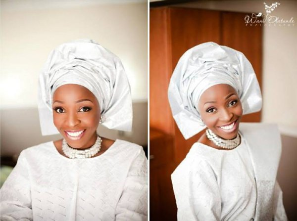 Nigerian All White Traditional Wedding Outfit LoveweddingsNG1