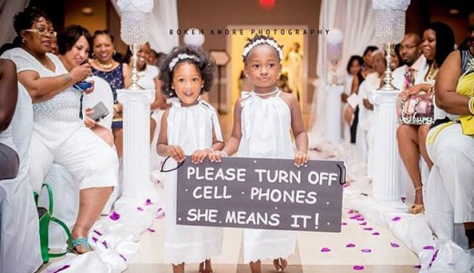 Nigerian Wedding Trend 2014 - Here Comes The Bride Sign1