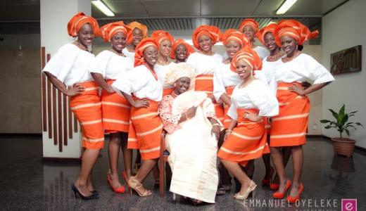 Asoebi Orange Emmanuel Oyeleke