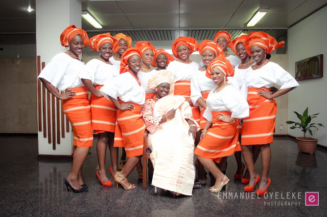 Asoebi Orange Emmanuel Oyeleke