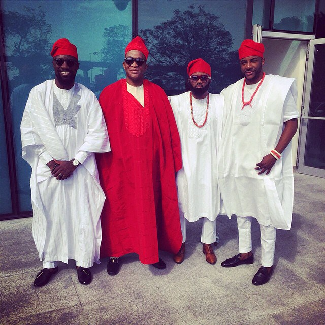 Michael Demuren Traditional Wedding - Olamide Adedeji, Segun Demuren, Noble Igwe, Ebuka
