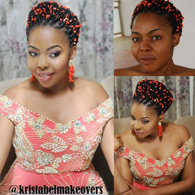 Nigerian Traditional Bridal Look - Kristabel Makeovers