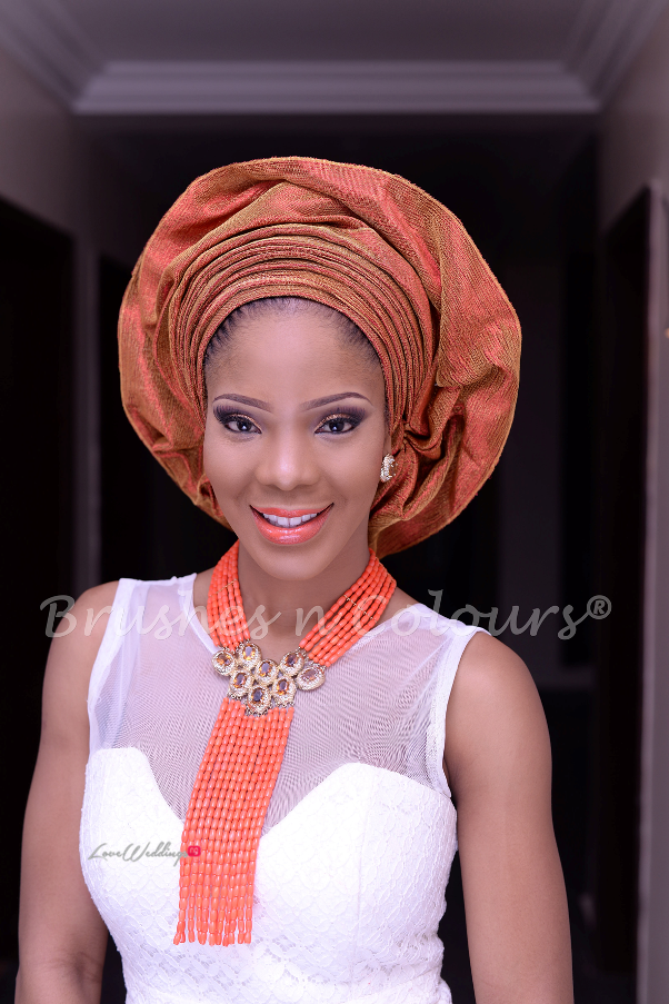 Nigerian Traditional Bride Brushes n Colors LoveweddingsNG12
