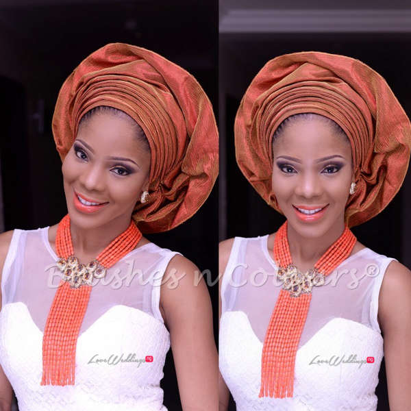 Nigerian Traditional Bride Brushes n Colors LoveweddingsNG14