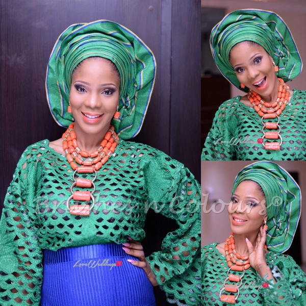 Nigerian Traditional Bride Brushes n Colors LoveweddingsNG16