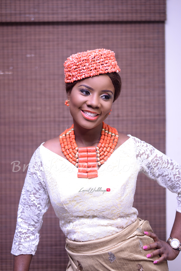 Nigerian Traditional Bride Brushes n Colors LoveweddingsNG17