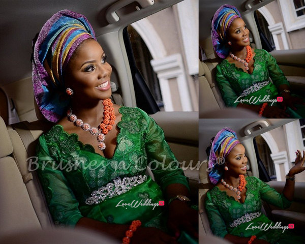 Nigerian Traditional Bride Brushes n Colors LoveweddingsNG20