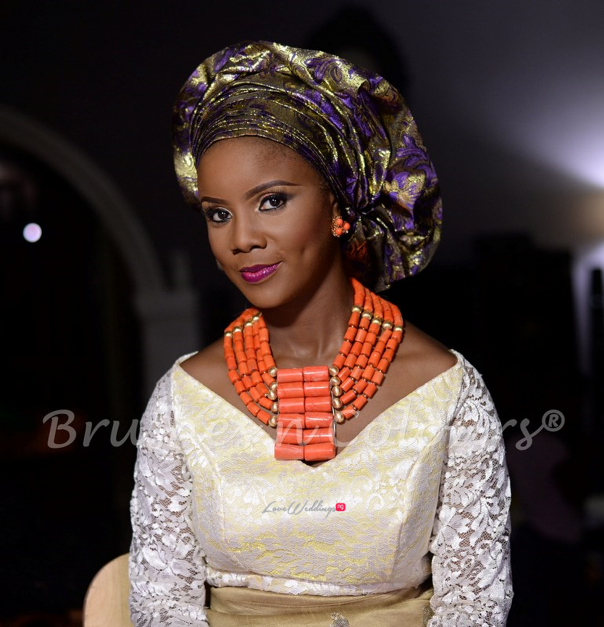 Nigerian Traditional Bride Brushes n Colors LoveweddingsNG21