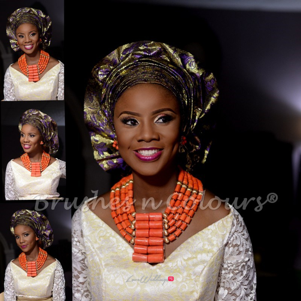 Nigerian Traditional Bride Brushes n Colors LoveweddingsNG22