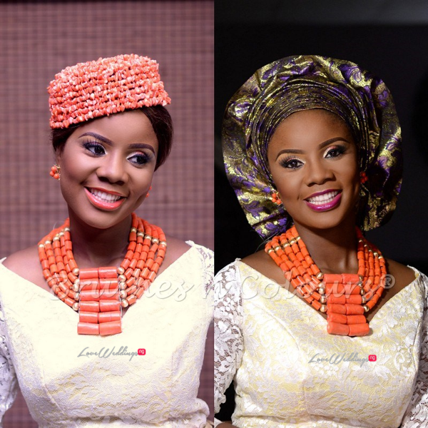 Nigerian Traditional Bride Brushes n Colors LoveweddingsNG23