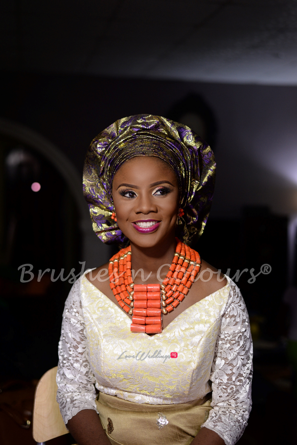 Nigerian Traditional Bride Brushes n Colors LoveweddingsNG27